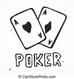 Hand drawn playing cards symbol