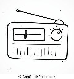Hand drawn radio Vector