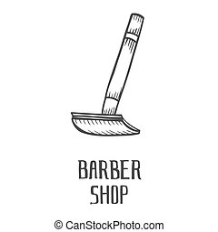 hand drawn razor - Barber Shop hand drawn, cartoon, sketch...
