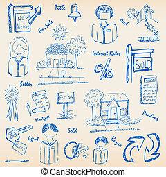 Hand Drawn Real Estate Icon Set
