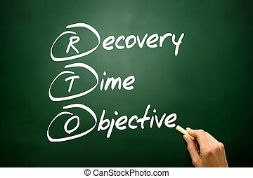 Hand drawn Recovery Time Objective (RTO), business concept acron