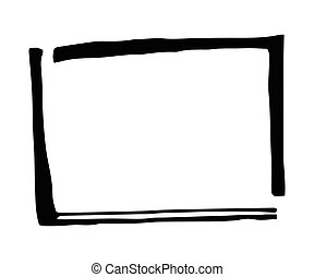 Hand drawn rectangle frame