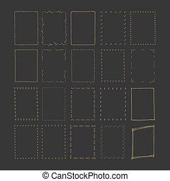 Hand drawn rectangle frames.