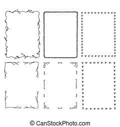 Hand drawn rectangular frames.