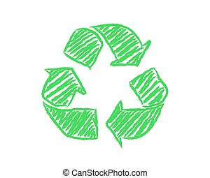 Hand Drawn Recycle Symbol