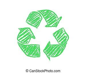 Hand Drawn Recycle Symbol