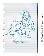 Hand drawn Santa Claus