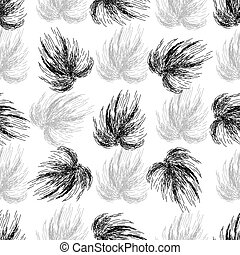 Hand drawn seamless black and white background.