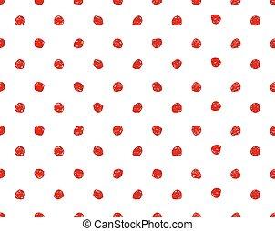 Hand drawn seamless dot pattern