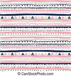 Hand drawn seamless ethnic pattern
