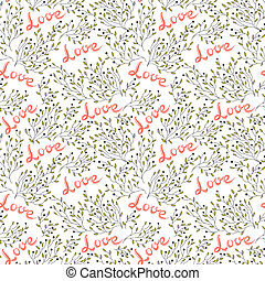 hand drawn seamless love pattern