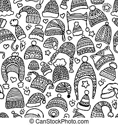 Hand-drawn seamless pattern for Christmas