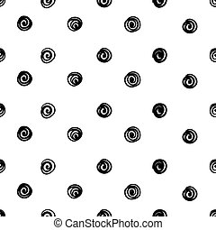 Hand drawn seamless pattern isolated on white.