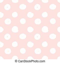 Hand drawn seamless pink dot texture