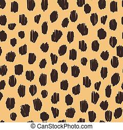 Hand drawn seamless stylized animal skin pattern - Hand...