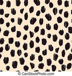 Hand drawn seamless stylized animal skin pattern