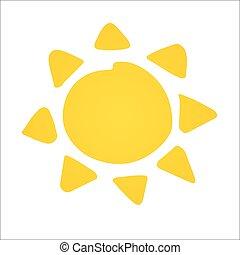 Hand drawn shinny sun. Vector - Hand drawn cute shinny sun....