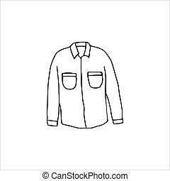 Hand-drawn shirt Isolated on a white background. Vector illustration