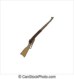 Hand drawn shotgun isolated on a white background. Vector illustration