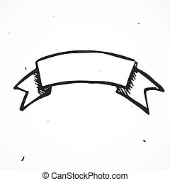 Hand drawn sign of history arms, doodle element