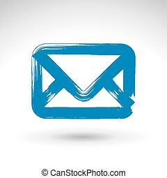 Hand drawn simple vector mail icon,
