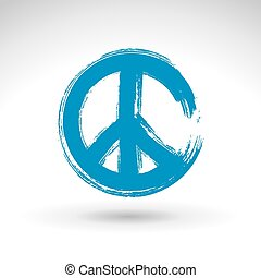 Hand drawn simple vector peace icon