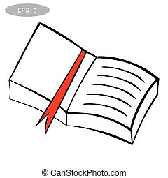 hand drawn sketch book, isolated on a white background vector illustration