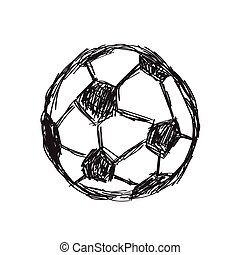 Hand drawn sketch doodle of a football icon