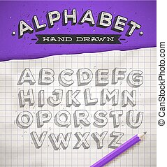 Hand drawn sketch font