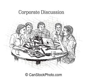 Businessmen doing Corporate meeting discussion
