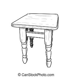 Hand drawn sketch of a chair