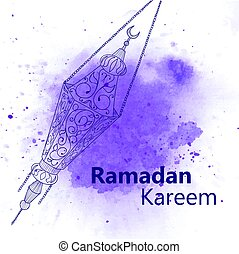 Hand drawn Sketch of Ramadan Lantern