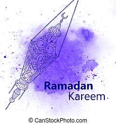 Hand drawn Sketch of Ramadan Lantern