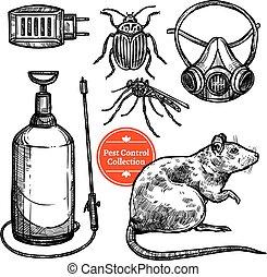 Hand Drawn Sketch Pest Control