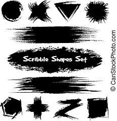 Hand-drawn sketch shapes