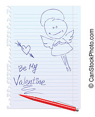 hand-drawn, sketchy, scheda