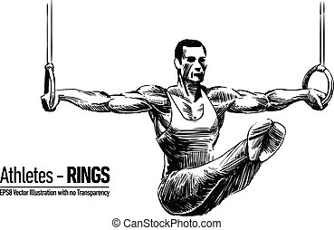 Illustration of Gymnastics Sportsma - Hand-drawn Sketchy ...