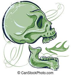 Hand Drawn Skull illustra