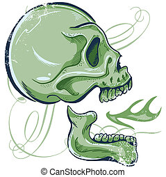 Hand Drawn Skull illustra