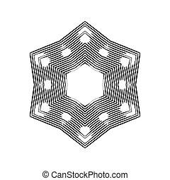 Grunge snowflakes. Vector illustration.