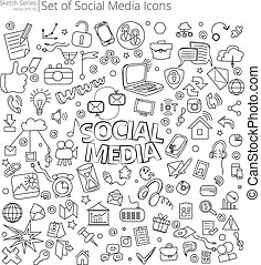 Hand Drawn Social Media icons.
