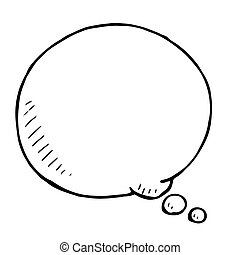 Hand drawn speech bubble. Vector doodle illustartion