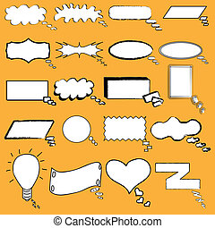 Hand drawn speech bubbles