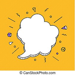 Hand drawn speech bubbles icon. Vector Illustration