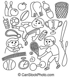Hand drawn sport