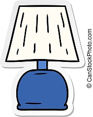 sticker cartoon doodle of a bed side lamp