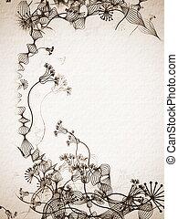 hand drawn stylish floral