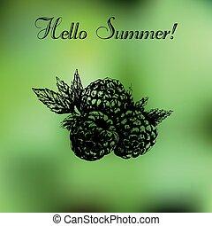 Hand drawn summer background