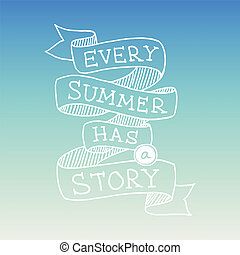 Hand drawn summer quotation, vector illustration