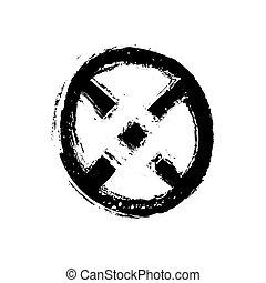 hand drawn symbol X, vector